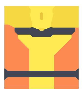 podium with winner's trophy